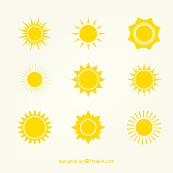 Yellow sun iconos
