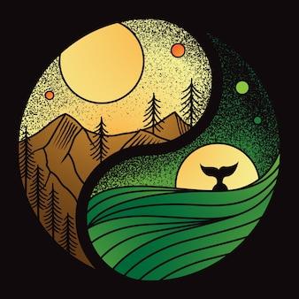 Yin yang de la naturaleza