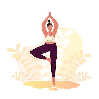 Yoga mujer anasas en la naturaleza