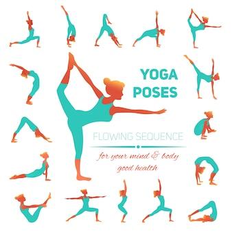 Yoga plantea iconos
