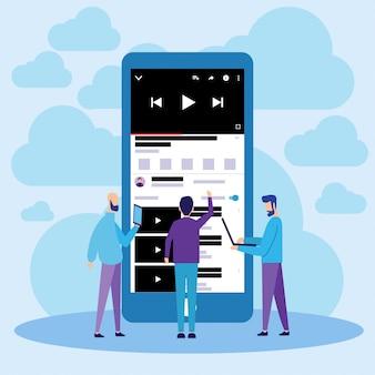Youtube móvil en línea de video streaming