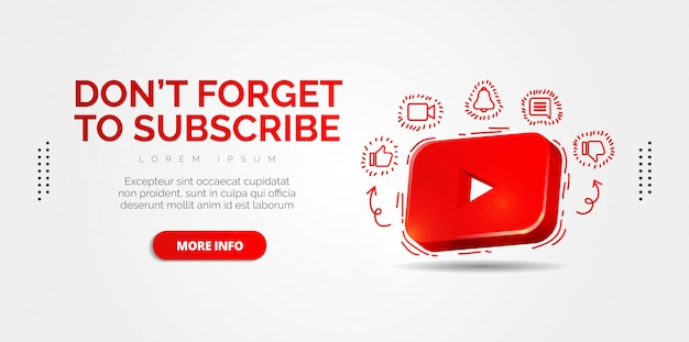 Youtube redes sociales con diseños coloridos.