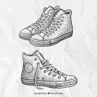 Zapatillas de deporte esbozadas