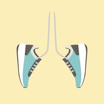 Zapatillas de tenis de corredor en forma de pulmones