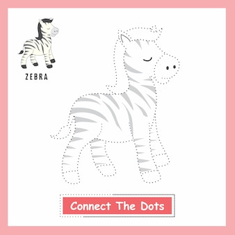 Zebra connect the dots