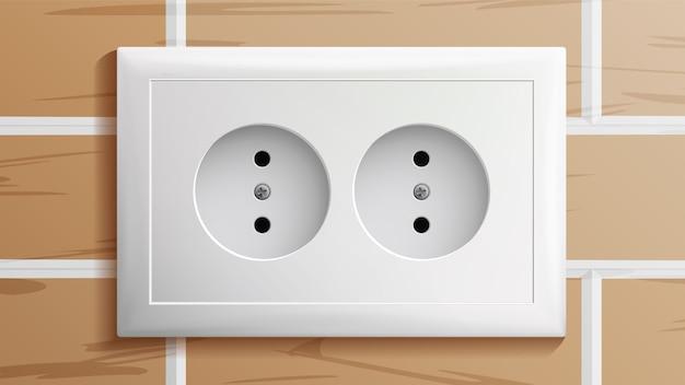 Zócalo, interruptor de alimentación de doble conexión a tierra