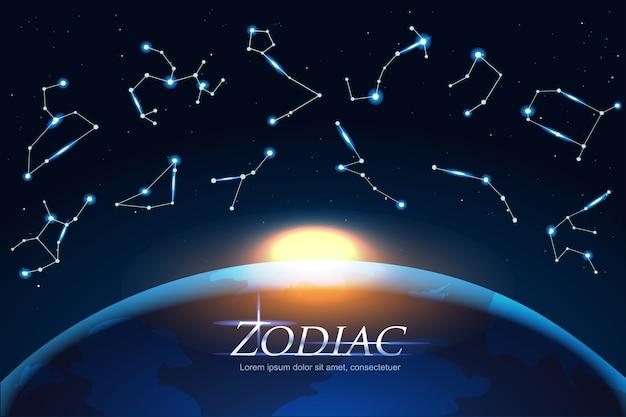 Zodiac design concept astrology canta en todo el mundo
