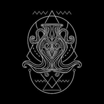 Zodiaco acuario geometri style