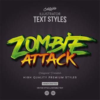 Zombie attack text style