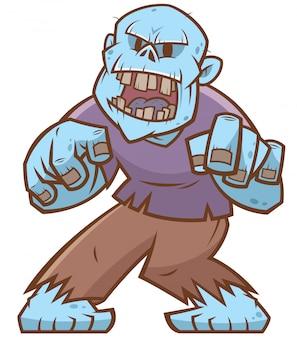 Zombie de dibujos animados
