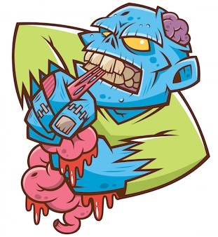 Zombie muerde un cerebro