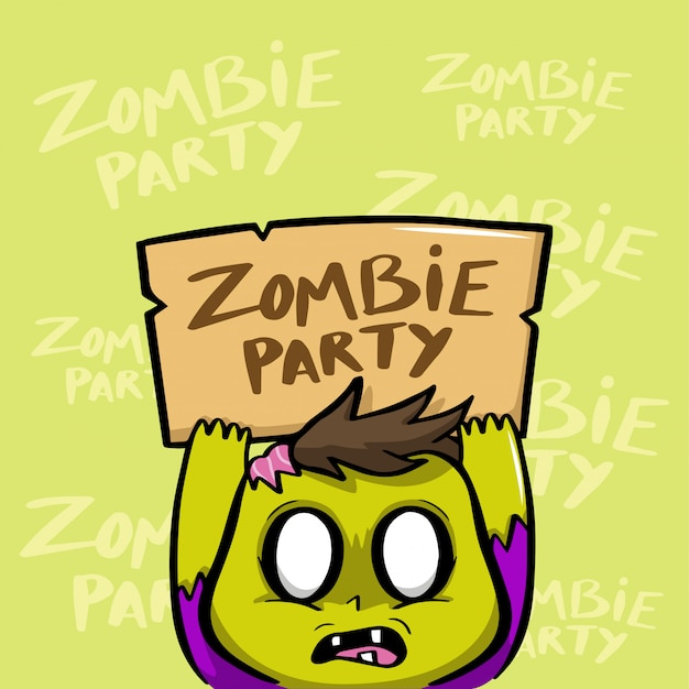 Zombie party halloween vector