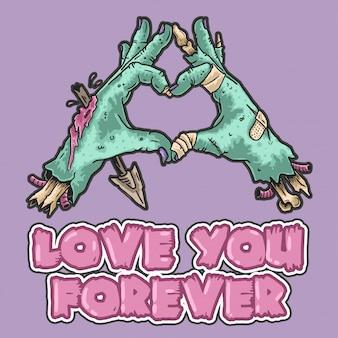 Zombie te amo por siempre