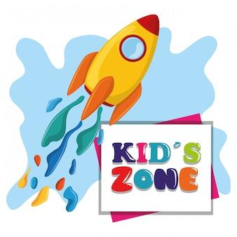 Zona infantil zona infantil dibujos animados.