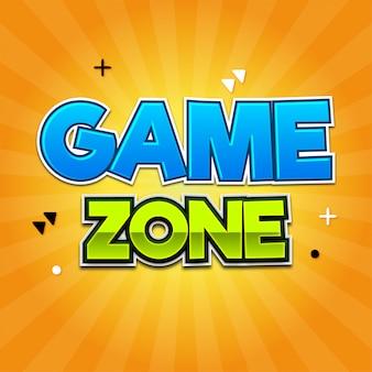Zona de juegos efectos de texto modernos
