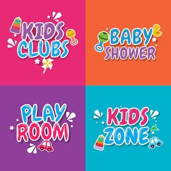 Zona de niños, plantilla de diseño de habitación de niños.