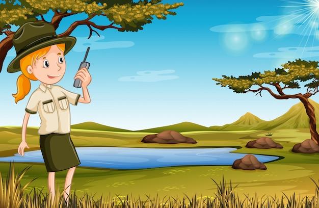 Zookeeper en la naturaleza