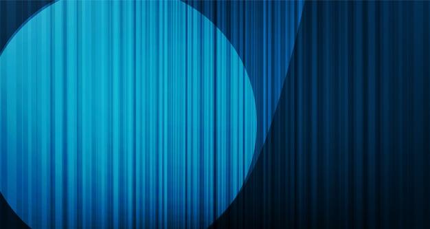 Zoom fondo de cortina azul claro con luz de escenario, alta calidad y estilo moderno.