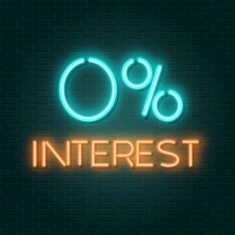 0 interesse neonzeichen