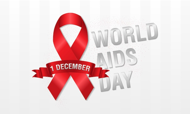 1. dezember welt hilft tag konzept. rotes band oder hiv-band. hilft bei bewusstsein.