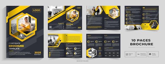 1 seite abstraktes broschürendesignfirmenprofil broschürendesignhalffold brochurebifold brochure