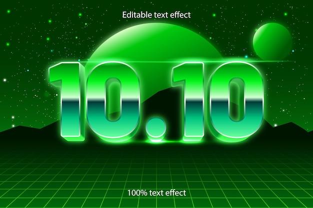10.10 bearbeitbarer texteffekt retro-stil