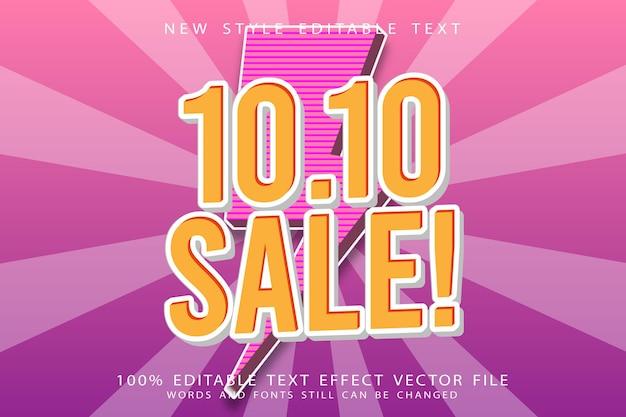 10.10 verkauf editierbarer texteffekt prägen modernen stil