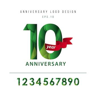 10-jähriges jubiläum vektor vorlage design illustration