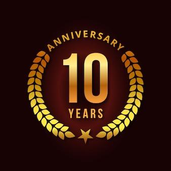 10 jahre vektordesign feiern