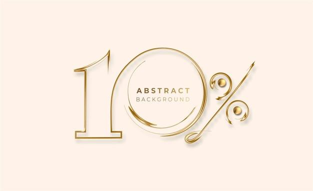 10% rabatt auf den sale-rabatt-banner. preisschild des gold-rabatt-angebots. vektor-moderne aufkleber-illustration.