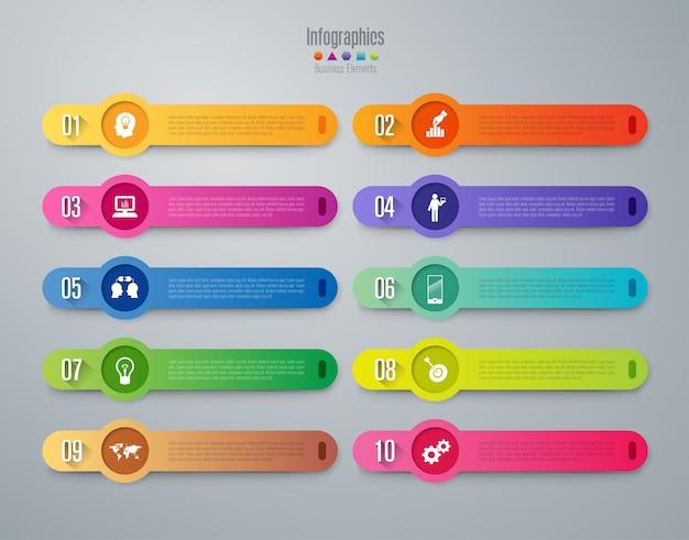 10 schritte business infografik elemente für die präsentation