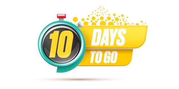 10 tage banner mit timer-design-vorlage