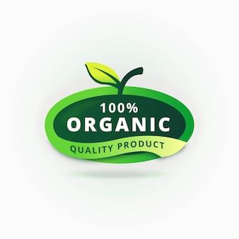 100% bio-zertifiziertes etikett
