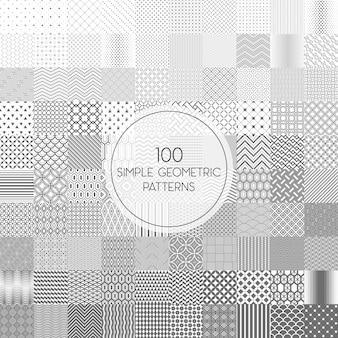100 einfache, nahtlose muster