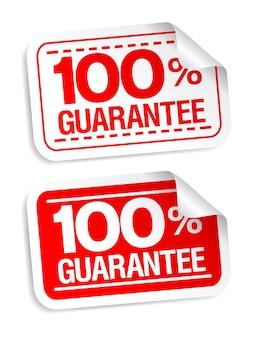 100% garantie aufkleber gesetzt