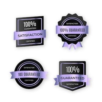 100% garantie etikettenkollektion