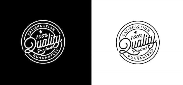 100% garantierte qualität produktstempel logo premium