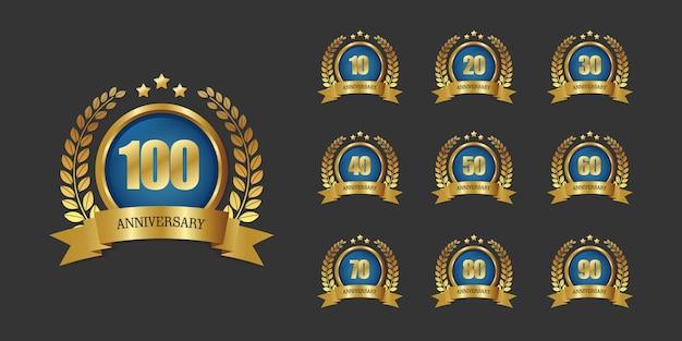 100-jähriges jubiläum-logo-vorlage