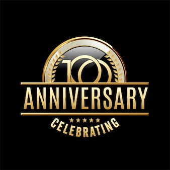 100 jahre jubiläum emblem illustration