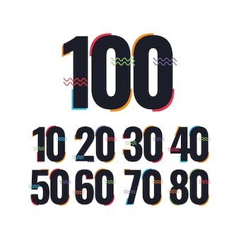 100 jahre jubiläumsfeier template design illustration logo icon