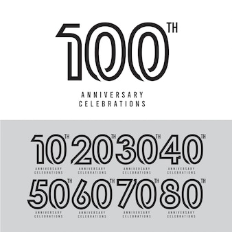 100. jahrestagsfeier-vektor-schablonen-design-illustration