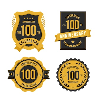 100 jubiläum label set