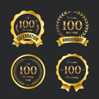 100 jubiläums-label-kollektion