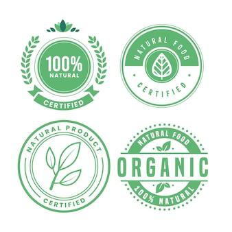 100% natürliches abzeichenpaket