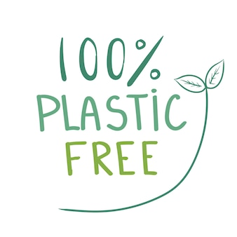 100 plastikfreies grünes symbol symbol auf weißem hintergrund vektor-illustration-design isoliert