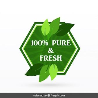 100% reine und frische