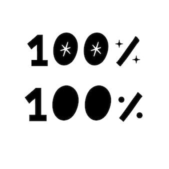 100% schrift von hand zeichnen text