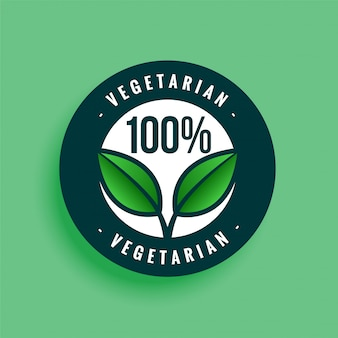 100% vegetarisches etikett