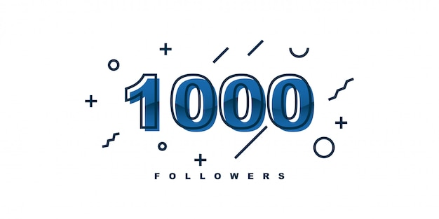 1000 follower design