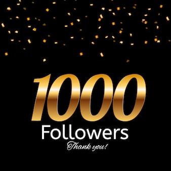1000 verfolger. danke hintergrund